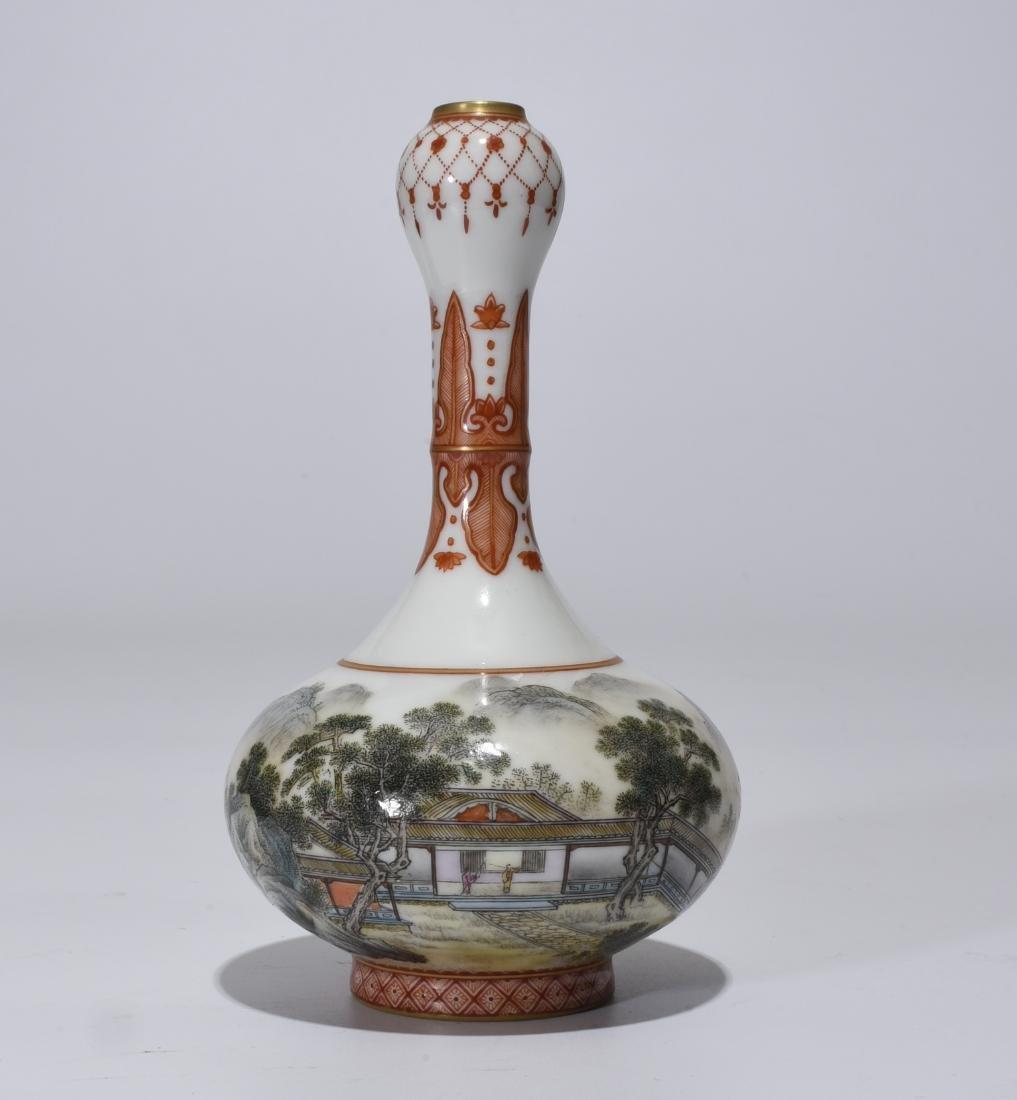 Qianlong Mark, A Enamel Glazed Gourd Vase