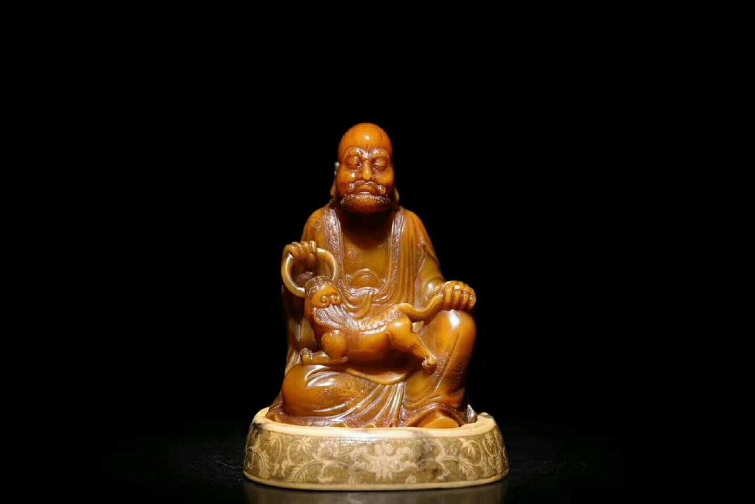 A Carved Tianhuang Stone Figure of Fuhu