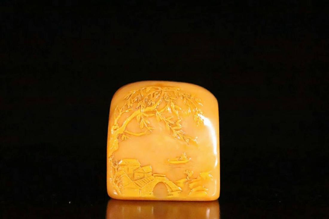 A Carved Tianhuang Stone Seal