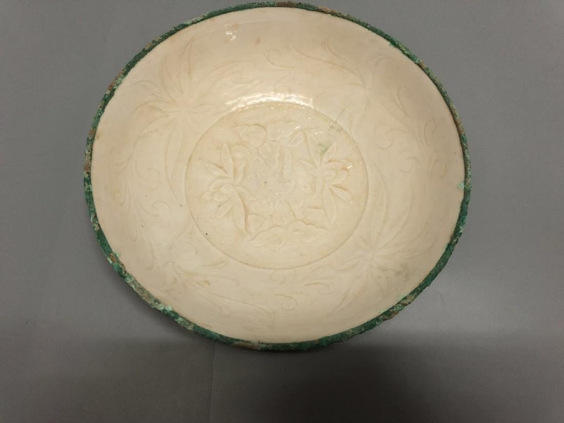 A White Glazed Ding Ware Bowl