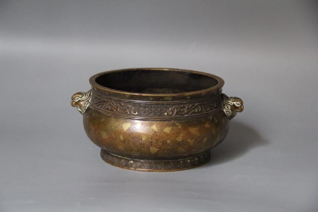 A Gilt Bronze Censer