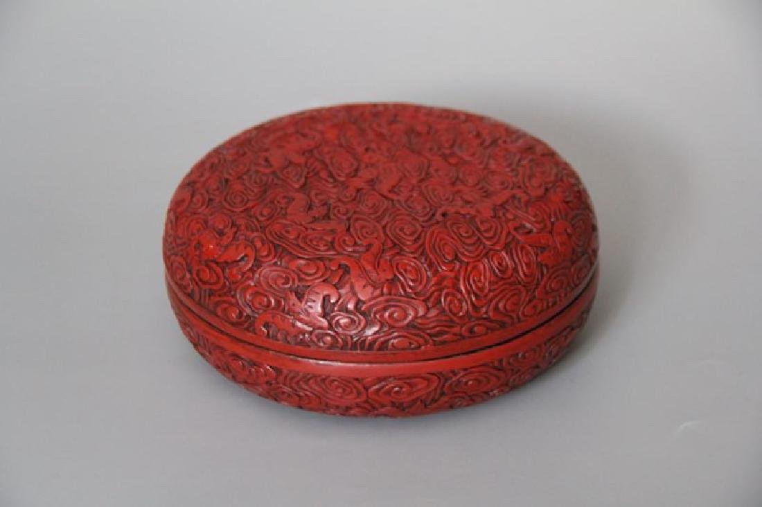 A Late Qing Lacquer Box with Cover