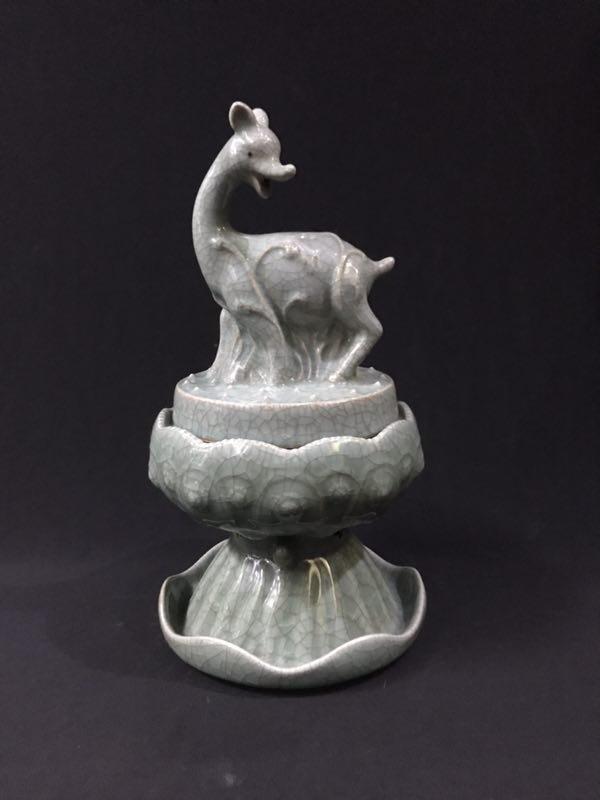 A Celadon Glazed Censer