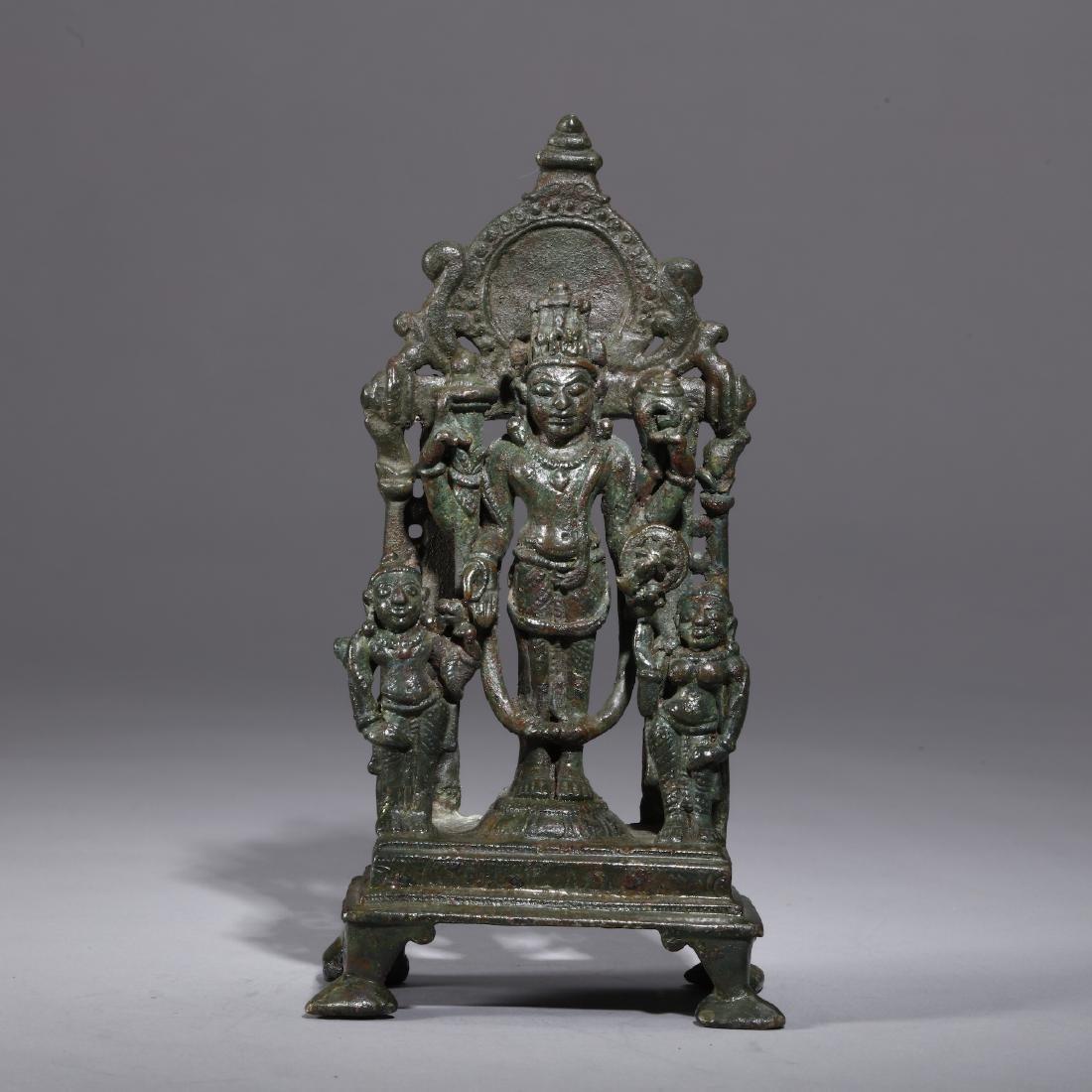 A Bronze Indian Figure of Vishnu