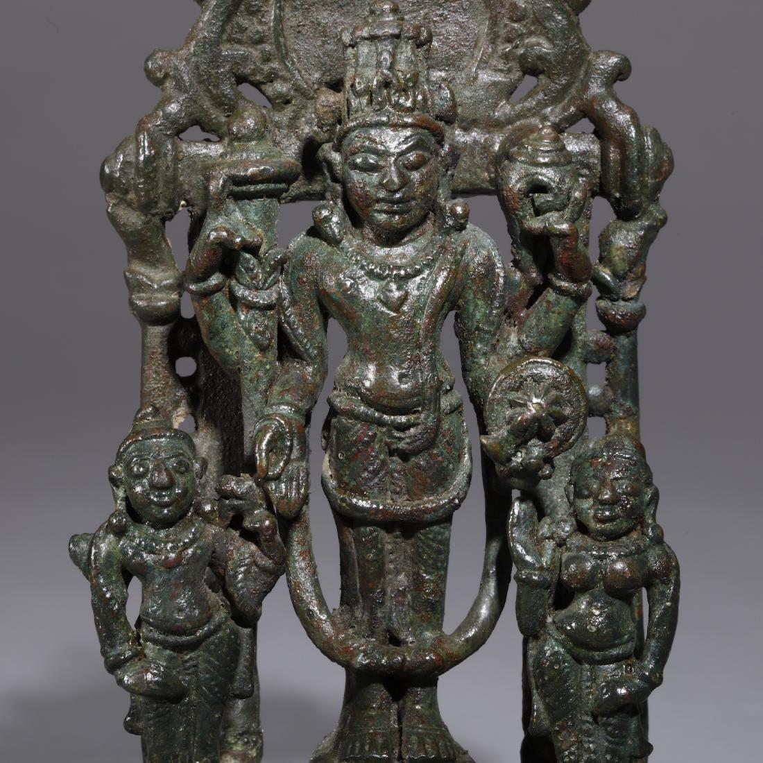 A Bronze Indian Figure of Vishnu - 2