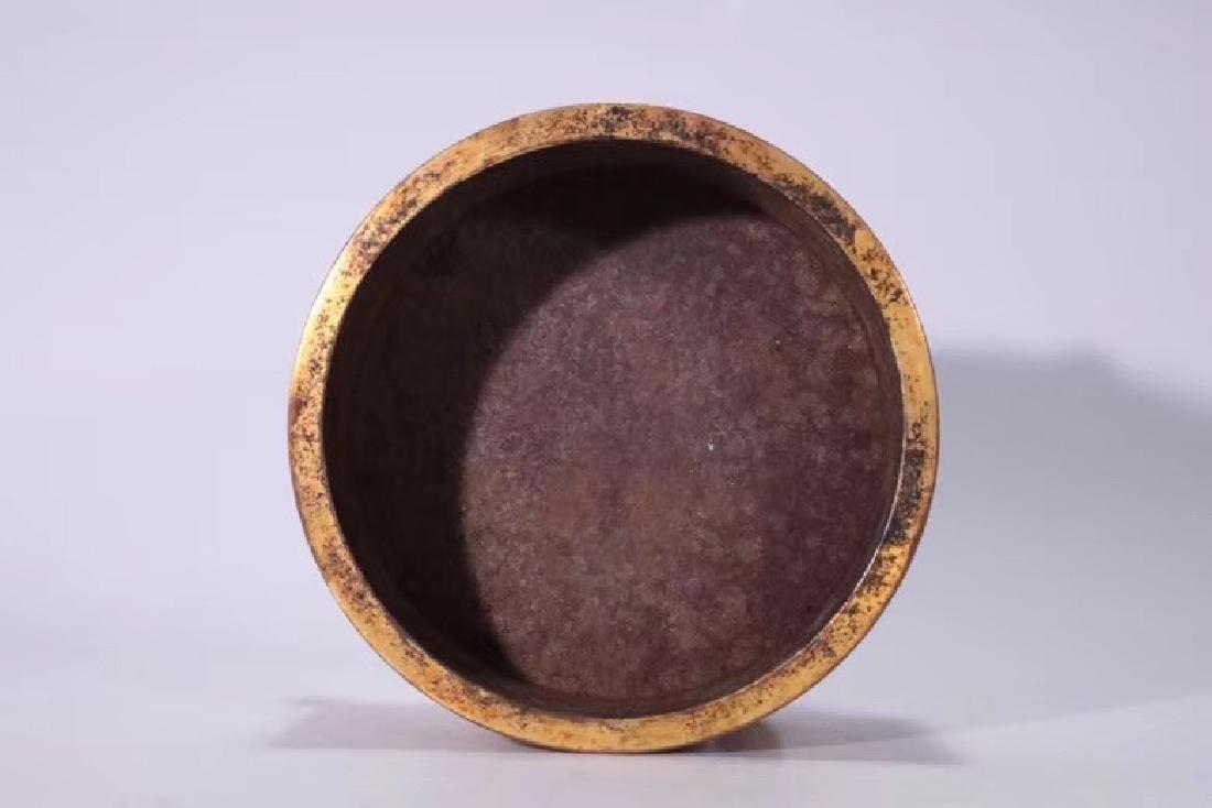 A Gilt Bronze Tripod Censer - 3