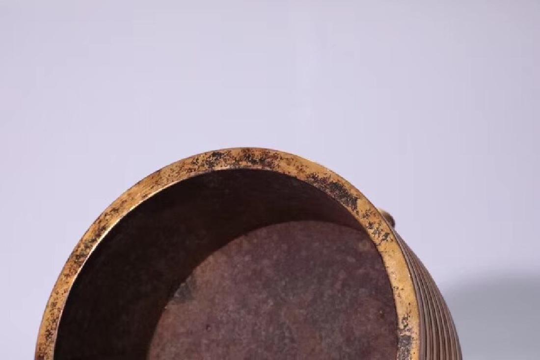 A Gilt Bronze Tripod Censer - 4