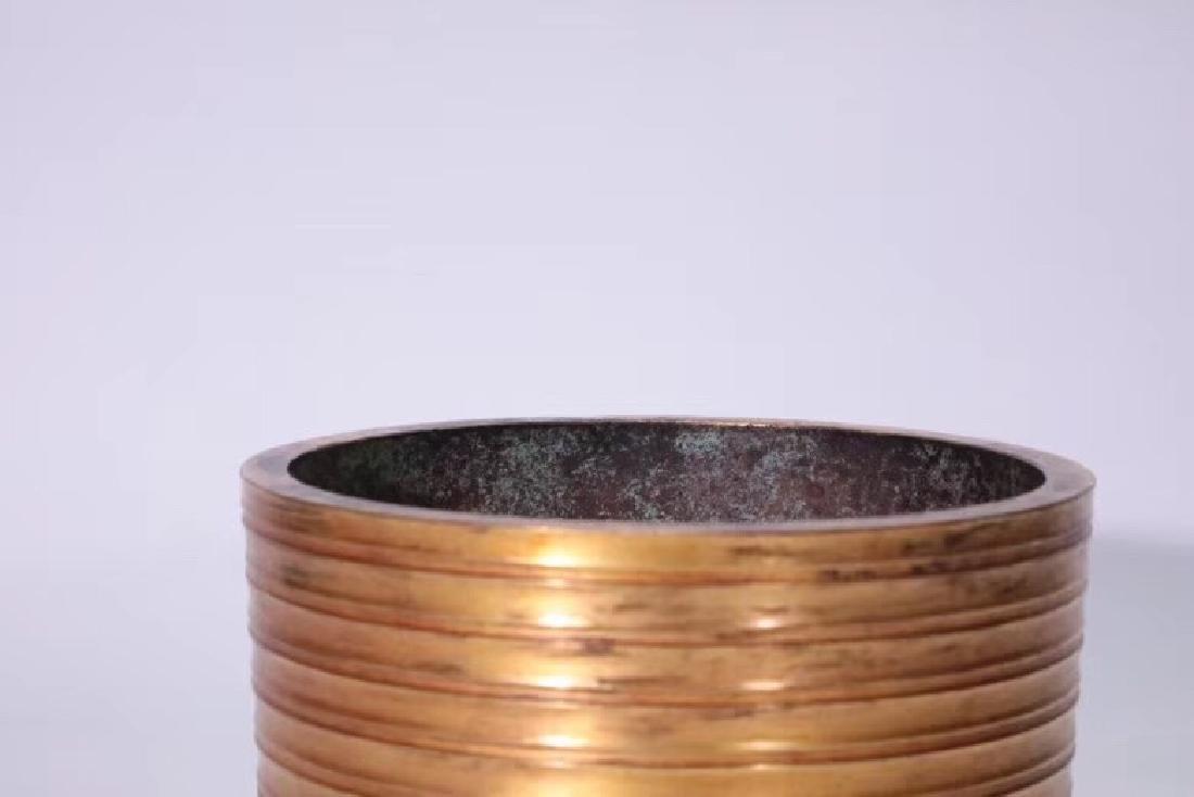 A Gilt Bronze Tripod Censer - 7
