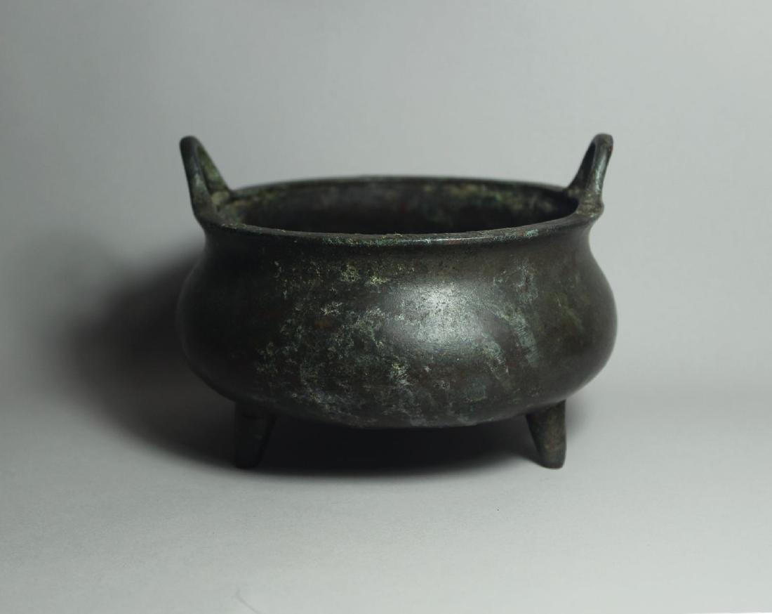 A Bronze Tripod Censer - 2