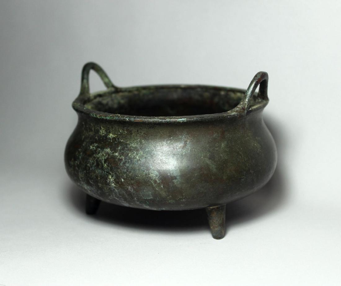 A Bronze Tripod Censer - 3
