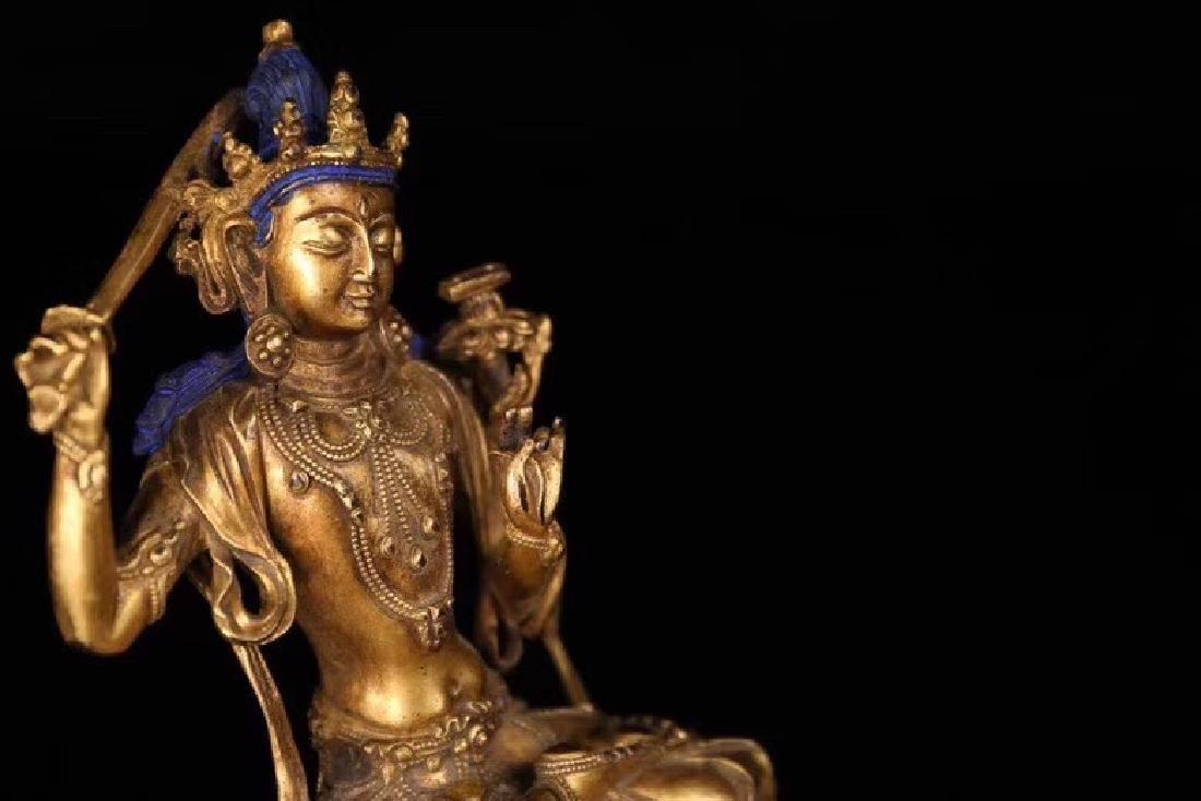 A Gilt Bronze Buddha Statue - 3