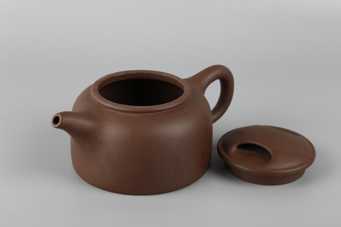 A Yixin Purple Clay Teapot - 5