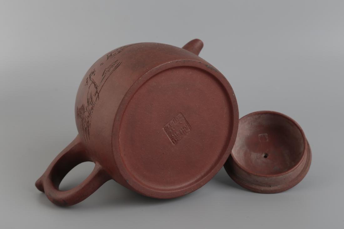 A Yixin Purple Clay Teapot - 6