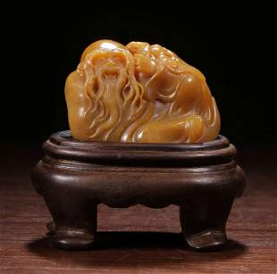 WANGJUSHENG MARK, CHINESE SOAPSTONE ORNAMENT