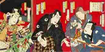 Toyohara Kunichika, series of  Japanese prints