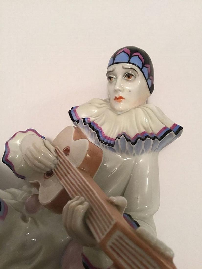 Rosenthal German porcelain Pierrot clown figure - 3