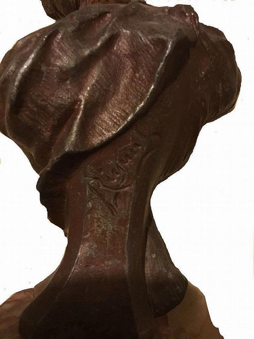 Sculpture of a young woman, Art Nevo, French origin, - 5