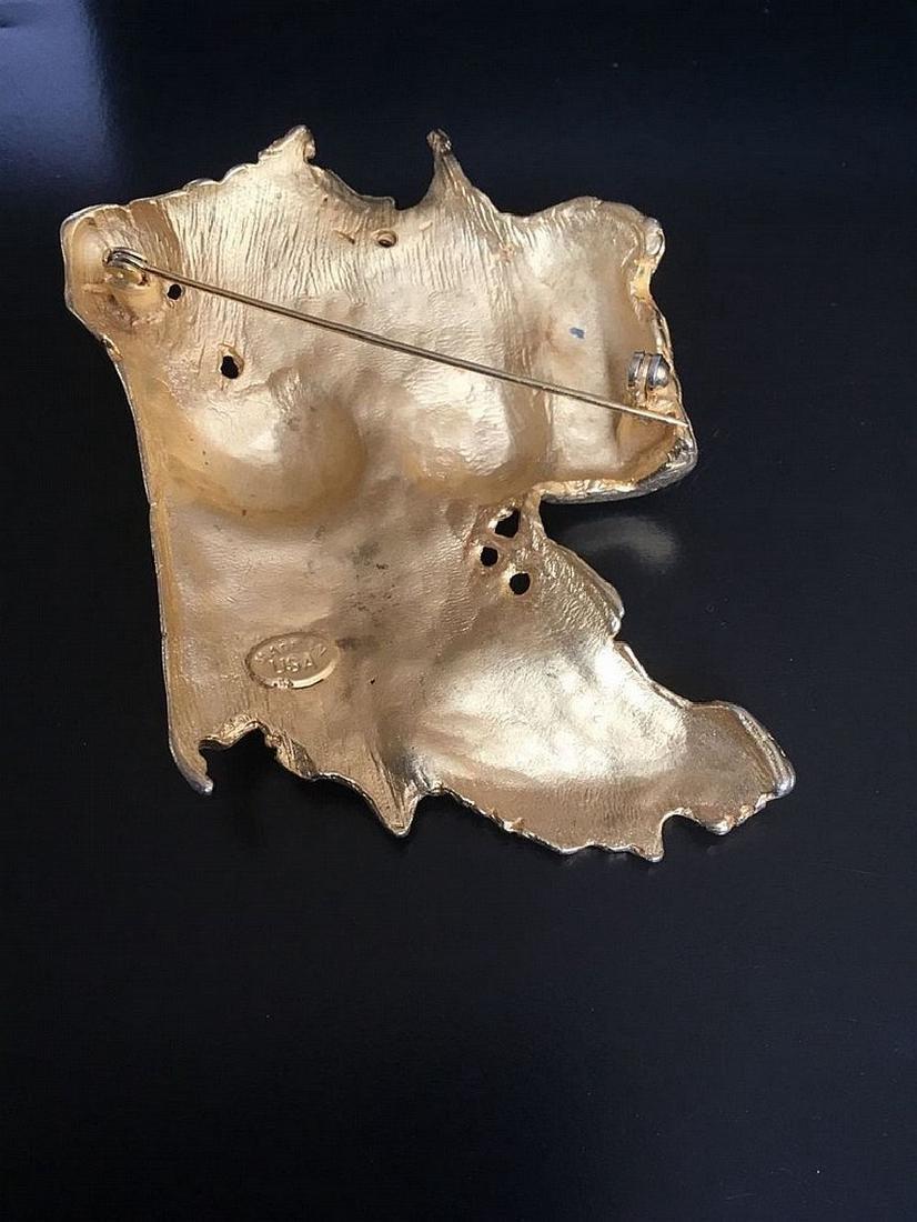 Unique Brooch -a nude Woman 's Torso - Venus signed - 3