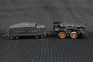 American Flyer metallic train with Lionel Lines