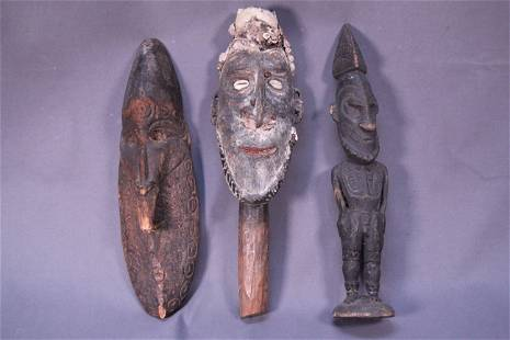 3 wooden carved of men figure ornament