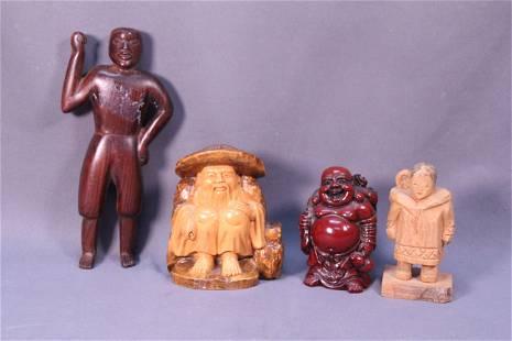 4 carved men decoration