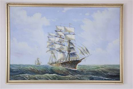 A large framed painting