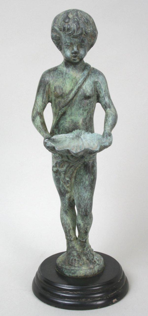 1: Bronzed Figure of a Boy