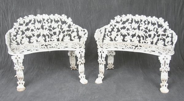 3: Pair Cast Aluminum Garden Seats