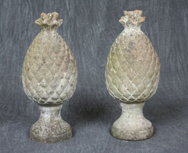5: Pair Pineapple Garden Ornaments