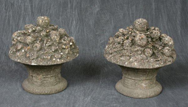 11: Cast Pebbled Concrete Garden Urns