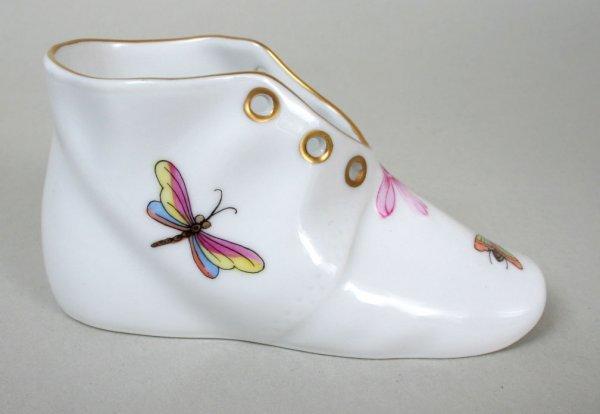 16: Herend Rothschild Bird Baby Shoe
