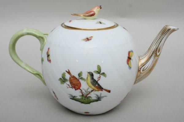 17: Herend Rothschild Bird Tea Pot