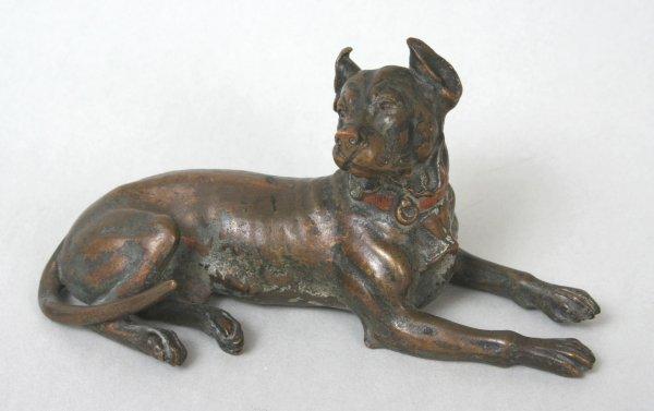 19: Bronze Pincher Dog Figure