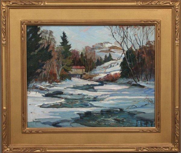 174: Otis Cook Landscape Painting