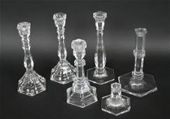 286 Group of Tiffany Crystal Candlesticks