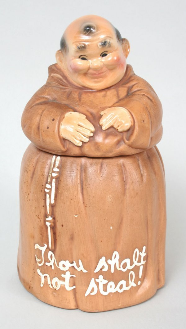 "305: ""Thou Shalt Not Steal"" Monk Cookie Jar"