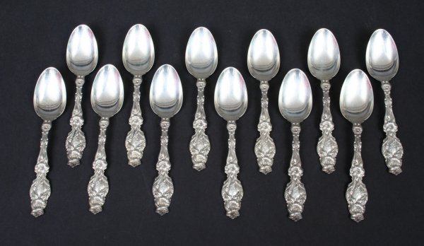 10: Whiting Lily Sterling Teaspoons