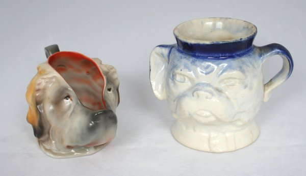 12: Two Character Dog Toby Mugs