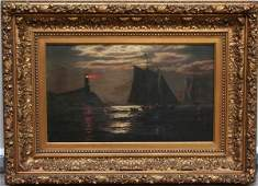 155A: James G. Tyler Maritime Oil Painting