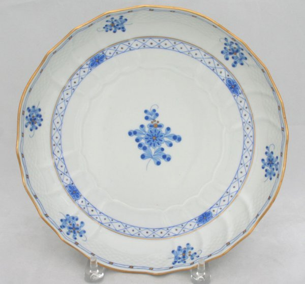 5: Herend Chinese Bouquet Blue Plate