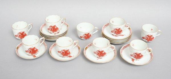 6: Herend Demitasse Cups Saucers