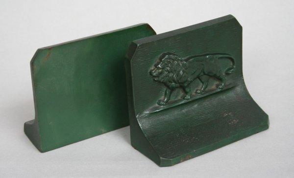 11: Bradley & Hubbard Lion Bookends
