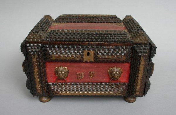 13: Tramp Art Box c.1900