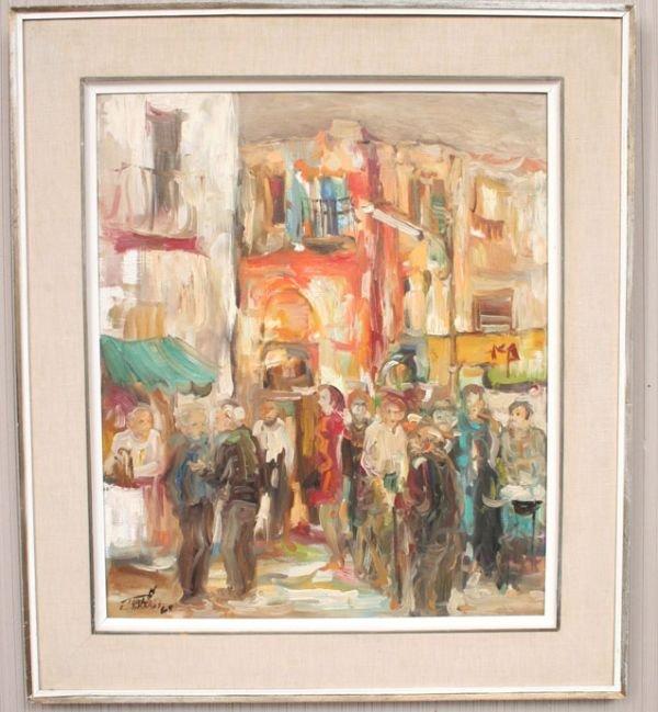16: Modern Street Scene Oil Painting