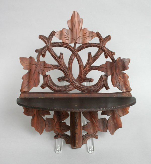 17: Carved Victorian Wall Shelf