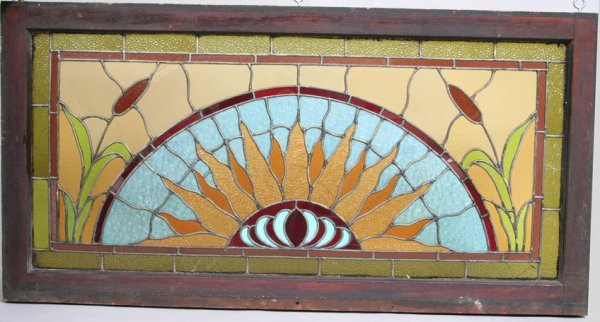 18: Vintage Stained Glass Window