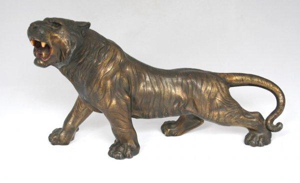 26: Spelter Tiger Figure