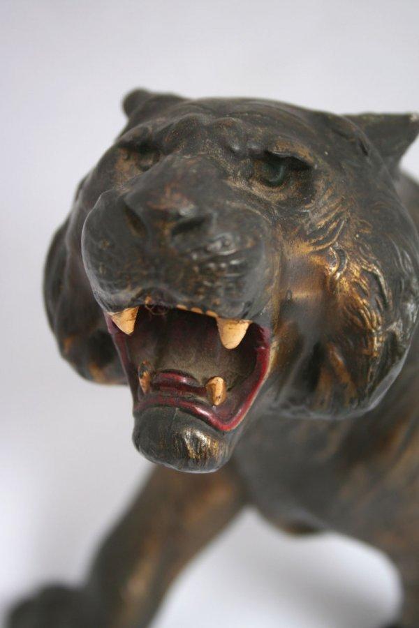 26: Spelter Tiger Figure - 2