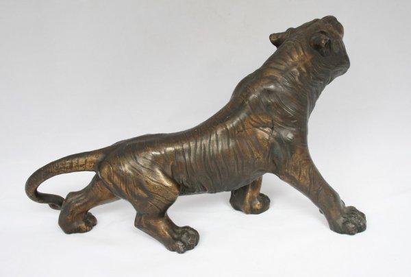 26: Spelter Tiger Figure - 4