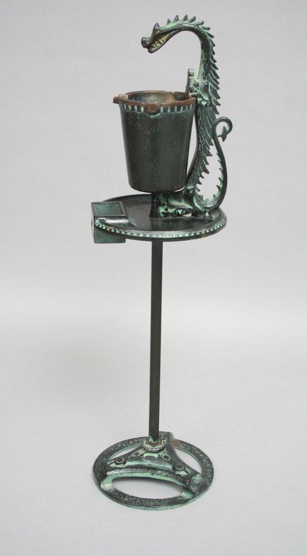 64: Cast Iron Dragon Smoke Stand